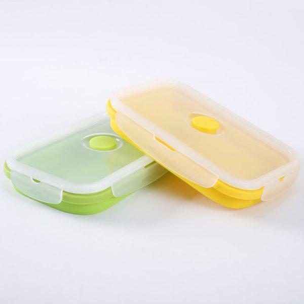 Faltbare Lunchbox aus Silikon mit Dampfauslass-1