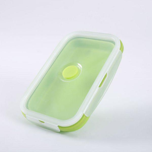 Faltbare Lunchbox aus Silikon mit Dampfauslass-2