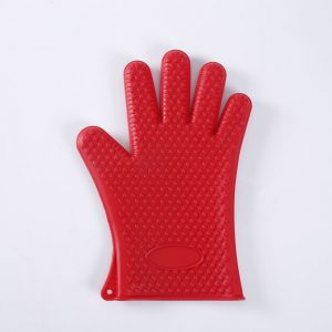 Front detail of the silicone glove LOE. Top view.