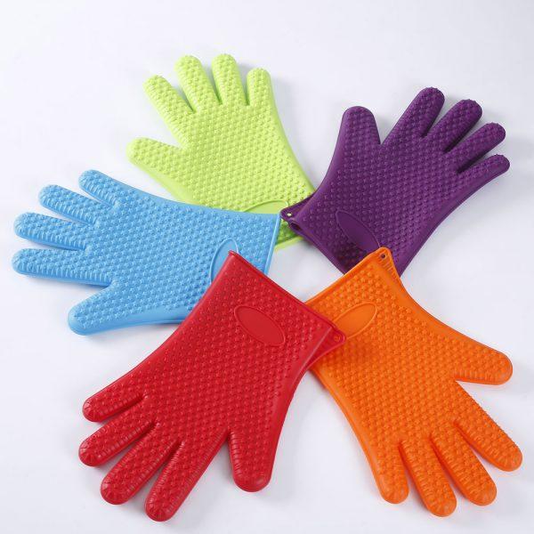 Detalle de la gama de colores de los guantes de silicona LOE.