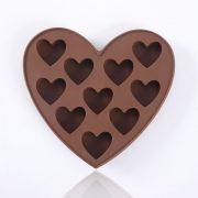Molde de chocolate de silicona con forma de corazones – 1
