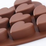 Molde de chocolate de silicona con forma de corazones – 5