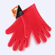 Pareja de guantes de silicona LOE para proteger las manos del calor.